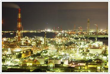 コンビナート工場夜景