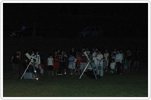星の広場(夜) 満点の星空が見られる